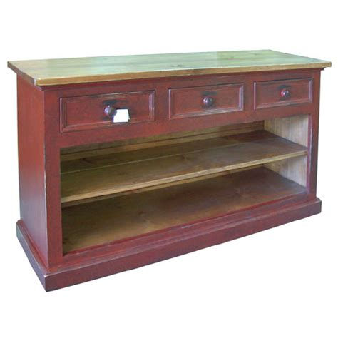 Open Sideboard by Country 3 Drawer Open Sideboard 3 Drawer Open