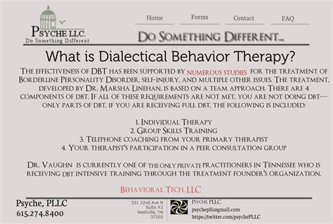 Dialectical Behavior Therapy Dbt For Bpd