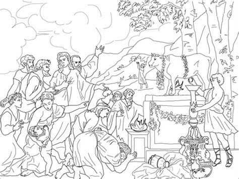 adoration  golden calf coloring page  printable coloring pages