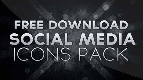 Free Social Media Icons Pack Download! Psd File