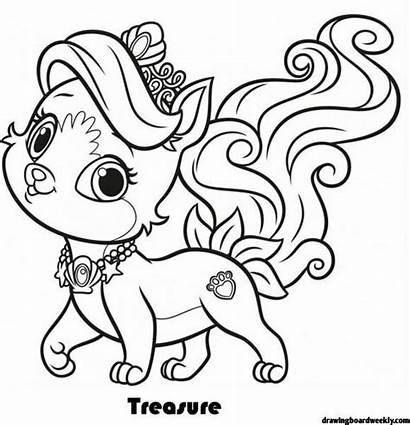 Coloring Palace Pets Disney Treasure Cat Animal