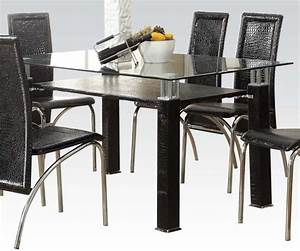 7 pc clear glass dining table toffy empire furniture With empire furniture home decor gifts