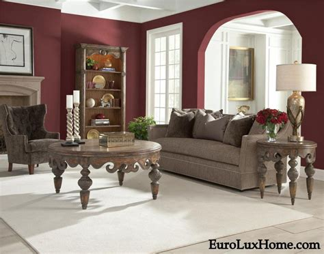 mixing burgundy or red wine decor with gray for a