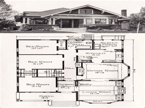 Floor Plans For Cottages And Bungalows Vintage Bungalow