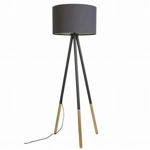 Stehlampe Aus Holz : zuiver stehlampe highland aus metall holz dunkelgrau 53xh155cm ~ Indierocktalk.com Haus und Dekorationen