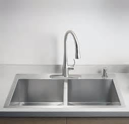 best faucets for kitchen sink kts3321d 33 quot top mount kitchen sink vancouver bowl