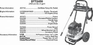 Delta    Excell Dtt2450 Pressure Washer Parts  Breakdown  Owners Manual  And Upgrade Pumps