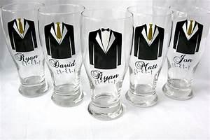 groomsmen tux pilsner glasses with for wedding party gifts With gifts for wedding party