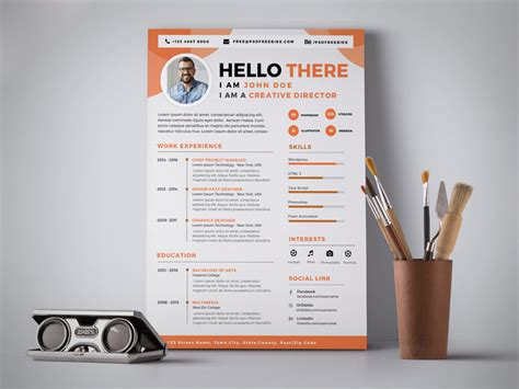 professional resume cv design template psd good resume