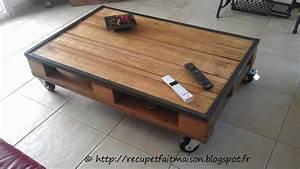 Table Basse Palettes : r cup et fait maison table basse en palette ~ Melissatoandfro.com Idées de Décoration