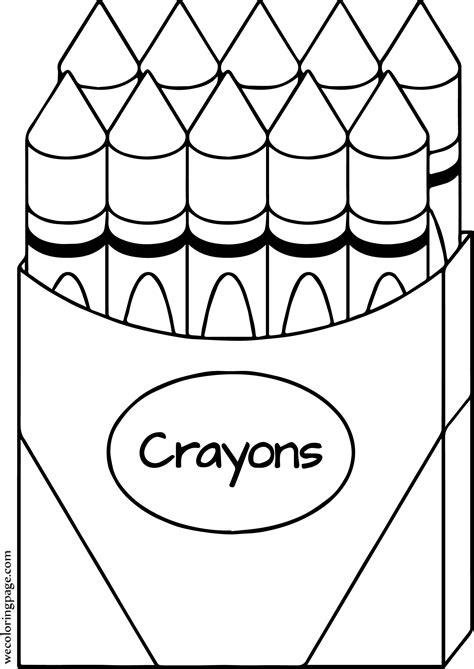 Coloring Crayon by Crayon All Coloring Page Wecoloringpage