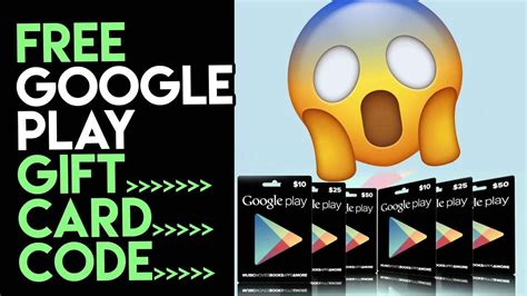 google play gift cards code
