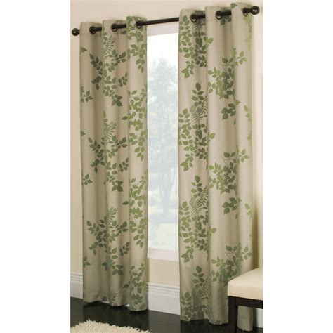 shop allen roth waterbury 84 in l floral green grommet