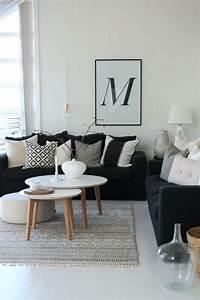 Idees Deco Salon : idee deco salon avec canape cuir noir id e de d co ~ Melissatoandfro.com Idées de Décoration