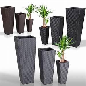 3 pots de fleurs 3 pots en rotin resine tressee achat for Amenager un jardin rectangulaire 17 3 pots de fleurs 3 pots en rotin resine tressee achat