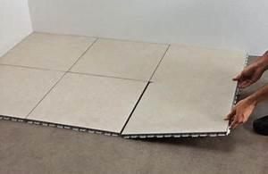 Dalle Pvc Clipsable Interieur : prix et pose d 39 un carrelage clipsable ~ Mglfilm.com Idées de Décoration