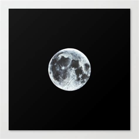 Learn to create a painting of a full moon with acrylics on canvas. Full Moon Painting Canvas Print by alizeykhan   Society6