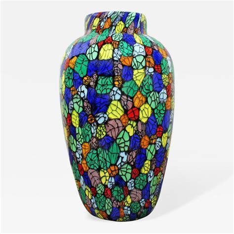 Colorful Decorative Vases by Vittorio Ferro Vitorrio Ferro Colorful Blown Glass