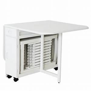Table Gain Place Pliante Rabattable Accueil Design Et