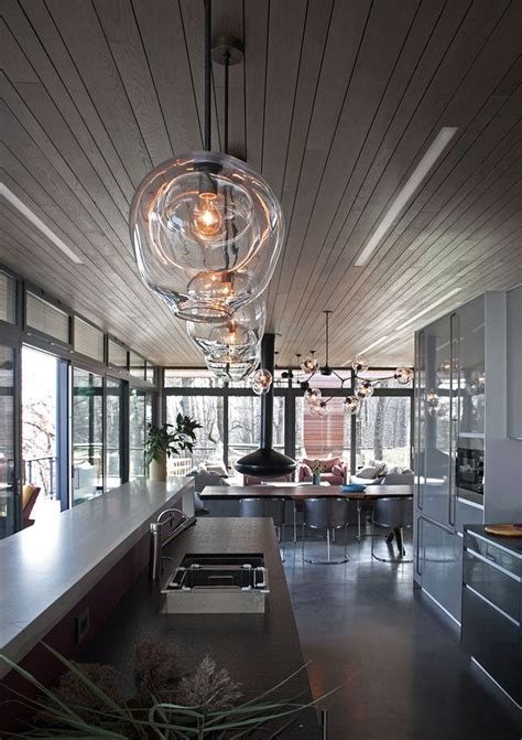 blown glass pendant lighting ideas   modern  sleek glow
