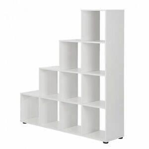Raumteiler Regal Weiß : raumteiler treppe wei b cherregal standregal b cher stufen regal wohnzimmer neu ebay ~ Frokenaadalensverden.com Haus und Dekorationen