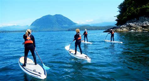 tofino paddle boarding  canoe tashii paddle school