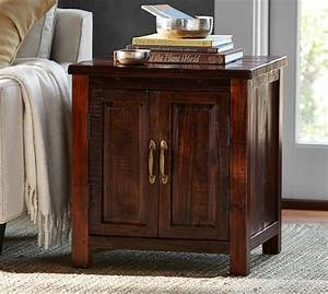 bowry reclaimed wood side table pottery barn With bowry bed pottery barn