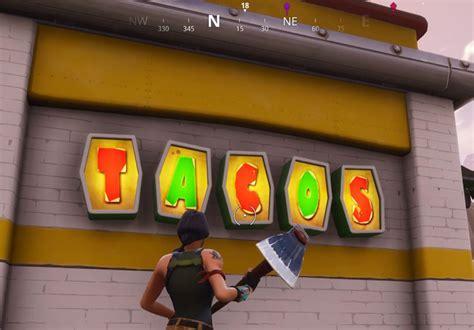 fortnite week  visit  taco shop locations