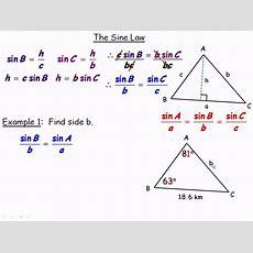 The Sine Law (grade 10) Part 1avi Youtube