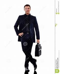 Business Man Standing Smiling Silhouette Royalty Free ...