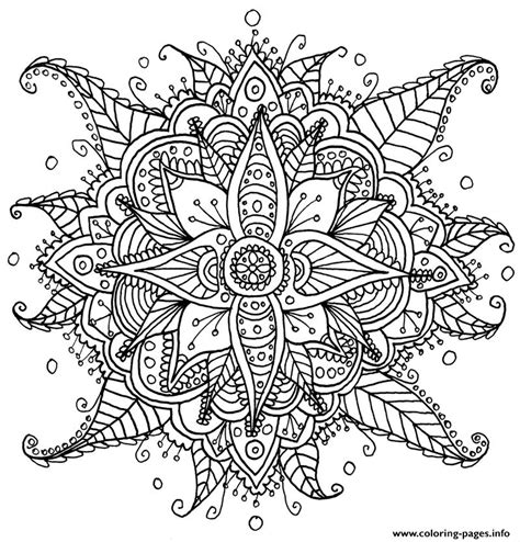 zen antistress  adult  coloring pages printable