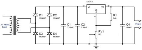 variable power supply  lm voltage regulator