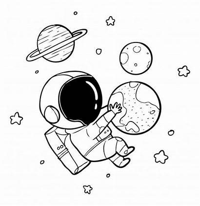 Astronaut Drawing Desenho Earth Astronauta Dibujo Doodle