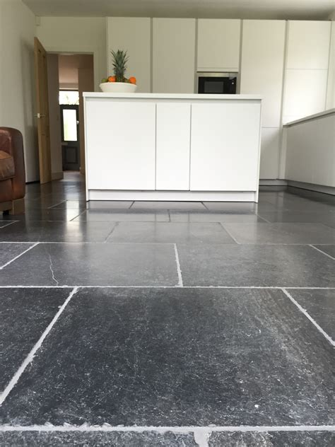 sandstone kitchen floor tiles aged bluestone kitchen project complete a contemporary 5069