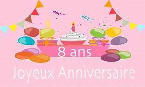 Carte Anniversaire Fille 9 Ans : carte anniversaire enfant 8 ans rose ~ Melissatoandfro.com Idées de Décoration