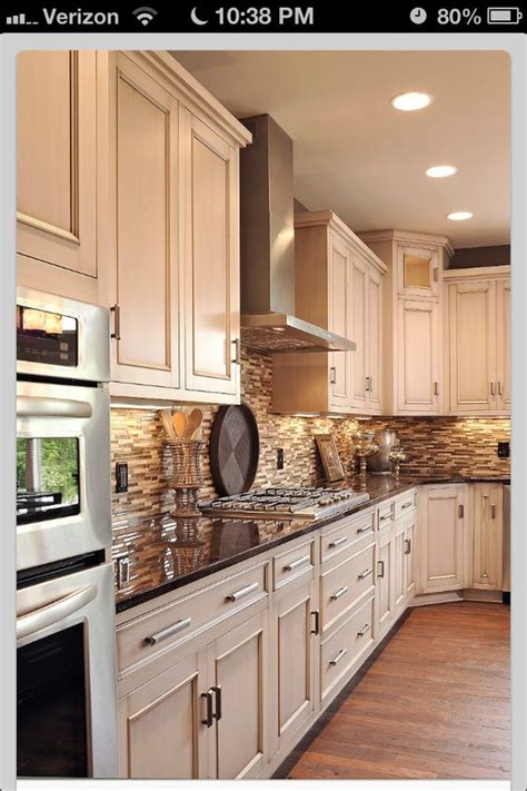 Kitchens With Cabinets And Light Countertops by Toast Bake Recipe Backsplash Stove
