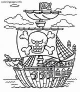 Pirate Coloring Pages Ship Pirates Treasure Caribbean Chest Boat Printable Lego Adults Sheet Colorings Colouring Schooner Sheets Getcolorings Getdrawings Jack sketch template