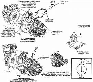 Removal Of Gear Shift On A 1997 F150 Manual Transmission