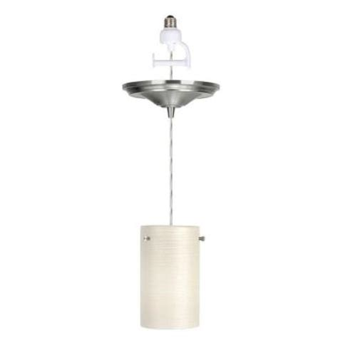 worth home products 1 light brushed nickel instant pendant