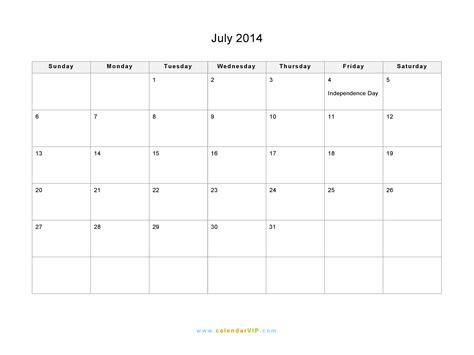 July 2014 Calendar Template Costumepartyrun