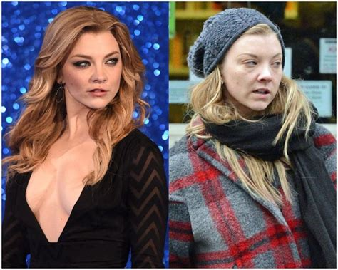 Natalie Dormer Makeup by Natalie Dormer With And Without Makeup