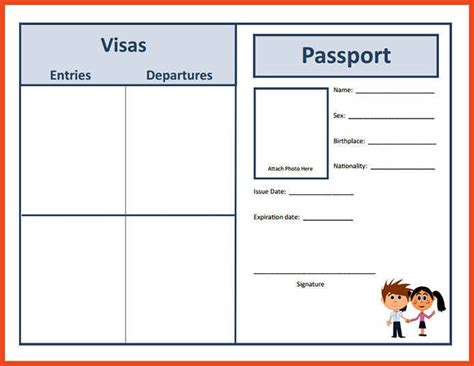 enhance fake passport template ideas   reputed