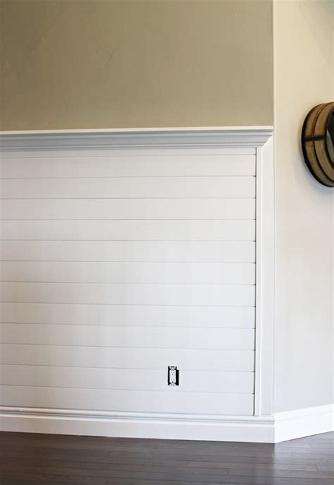 create a sleek entry way using shiplap paneling � home
