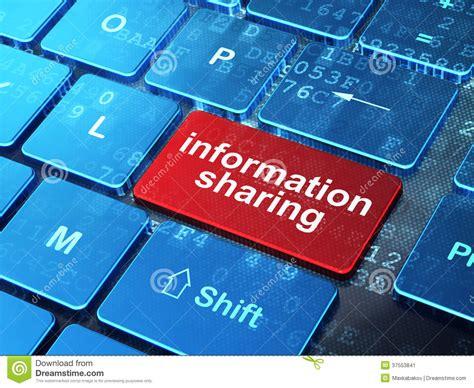 Information Sharing On Computer Keyboard Stock Image