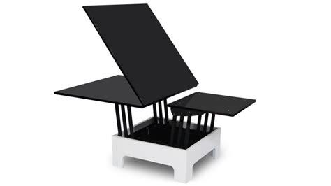 table basse relevable but table 224 rallonges hauteur modulable zebra mobilier moss