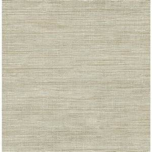 Brewster 56.4 sq. ft. Woven Beige Faux Grasscloth ...