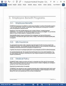 Employee Handbook Template  U2013 Download 100 Pg Ms Word