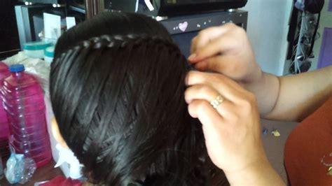 peinado trenza floja de lado youtube