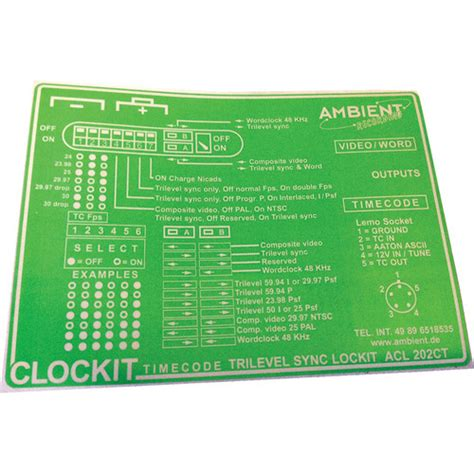 ambient recording label for acl 202ct lockit timecode acle ct