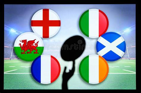 Italy Vs Scotland, Six Nations Rugby Match, Rugby Ball In ...